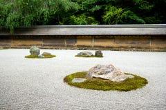Zen-Felsen Garden.Kyoto.Japan. Lizenzfreies Stockbild