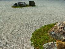 Zen-Felsen-Garten in Kyoto, Japan stockfoto