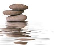 zen för sten för brunnsort för begreppssjukvårdpebbles Royaltyfria Bilder