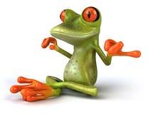 Zen frog Stock Images