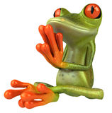 Zen frog. In a yoga position, 3d generated stock illustration