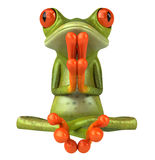 Zen frog Royalty Free Stock Images