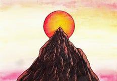 Zen góra (Zen obrazki, 2011) ilustracja wektor