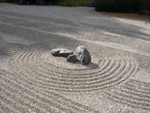 Zen Garden. A zen garden with raked sand and stones