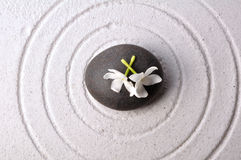 Zen garden. Rounds, zen stone in center of the round Stock Images