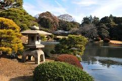 Zen garden. In Shinjuku Gyoen National Garden, Tokyo Royalty Free Stock Photography