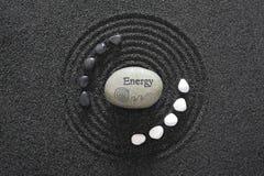 Zen garden. Stone of energy in asian zen garden Stock Photo