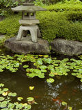 Zen garden&pond Stockfotografie