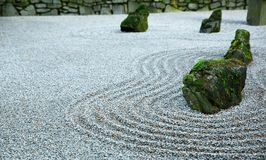 Zen Garden on Dark day Stock Photos