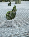 Zen Garden on Dark day center Stock Images