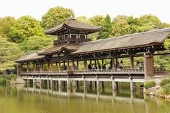 Zen Garden del santuario di Heian-jingu Fotografie Stock