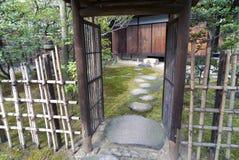 Zen garden entrance Stock Photography