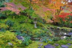 Zen garden at fall season at japan at Rurikoin. A zen garden at fall season at japan at Rurikoin Royalty Free Stock Photos