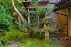 Zen garden at fall season at japan at Rurikoin. A zen garden at fall season at japan at Rurikoin Stock Images