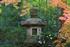 Zen garden at fall season at japan at Rurikoin Royalty Free Stock Photo