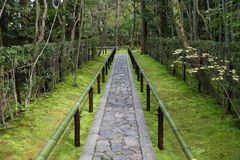 Zen garden in Japan Royalty Free Stock Photos