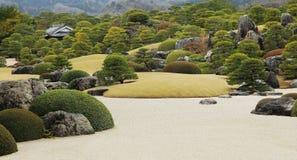 Zen garden. Japanese zen garden at Adachi-Museum of Art royalty free stock image