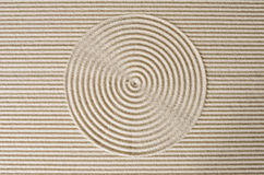 Zen garden. Japanese zen garden with circles in the sand