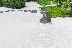 Zen Garden japanese style of stone garden. Way of peace royalty free stock image