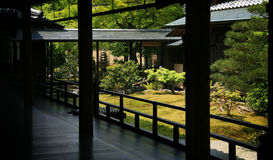 Zen garden in Kyoto Stock Photography