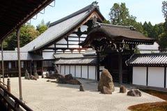 Zen garden in Kyoto Royalty Free Stock Image