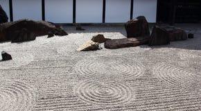 Zen garden in Kyoto Royalty Free Stock Photos