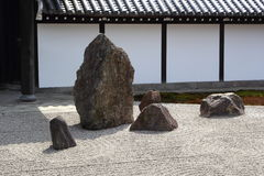 Zen garden in Kyoto Royalty Free Stock Photography