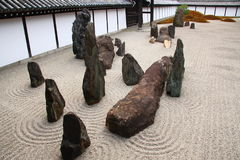 Zen garden in Kyoto. Famous zen rock garden in Tofuku-ji temple in Kyoto, Japan Stock Image