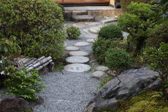 Zen garden in Kyoto Stock Images