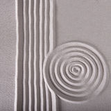 Zen garden lines and circle ripple pattern Royalty Free Stock Photos