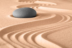 Zen garden meditation background. Japanese zen stone garden meditation background Royalty Free Stock Photos