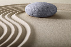 Zen garden meditation stone background Royalty Free Stock Images