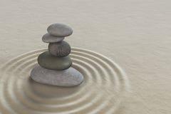 Zen garden meditation stone Stock Image