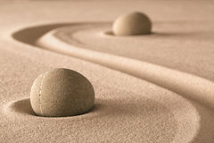 Zen garden meditation stone royalty free stock photos