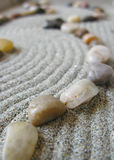 Zen garden path. With curves and stones Royalty Free Stock Image