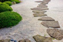 Zen garden path. Zen garden with rock path Royalty Free Stock Photo