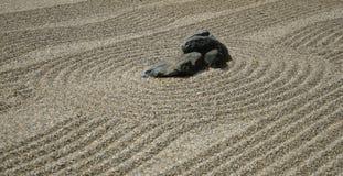 Zen garden. Rocks on the sand in the Japanese Zen Garden for meditation Stock Photography