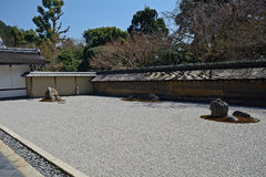 Zen garden at Ryoan Temple, Kyoto, Japan Stock Images