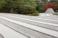 Zen garden sand pattern Royalty Free Stock Photos