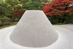 Zen garden sand tower Stock Photo