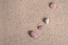 Zen garden sand waves and rock sculptures Stock Image