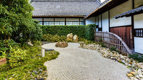 Zen garden at Shoren-in Temple Royalty Free Stock Images