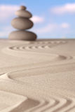 Zen garden spirituality and balance background Royalty Free Stock Images