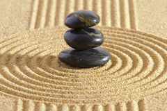 ZEN garden with stacked stones Stock Photo