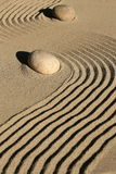 Zen garden stone and sand Stock Photo