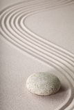 Zen garden stone and sand pattern tranquil relax Royalty Free Stock Image