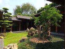 Zen garden in temple stock photo