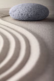 Zen garden tranquility and balance stone Stock Photo