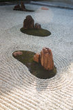 Zen gardens typically contain gravel and bare stones Royalty Free Stock Image