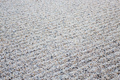 Zen gardens typically contain gravel pattern Royalty Free Stock Photography